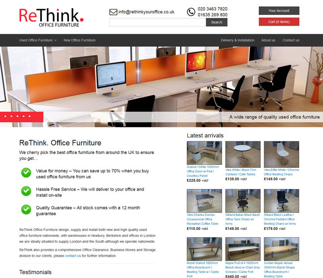 Rethink Office Furniture screenshot